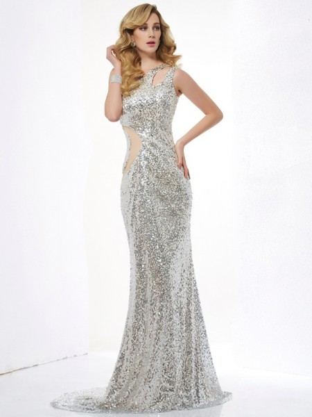 Trumpet/Mermaid One-Shoulder Lace Long Lace Dress