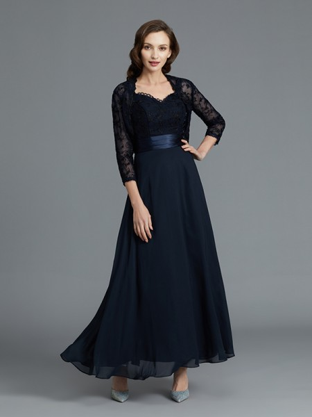 A-Line/Princess Sweetheart Chiffon Ankle-Length Mother of the Bride Dresses