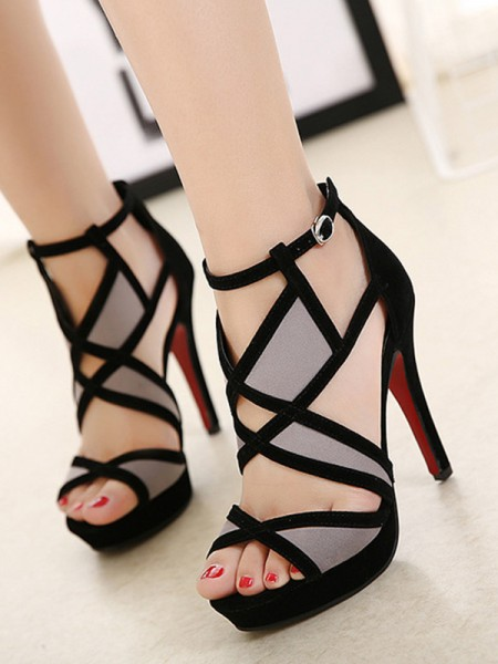 Ladies's Hollow-out Stiletto Heel Peep Toe Sandals
