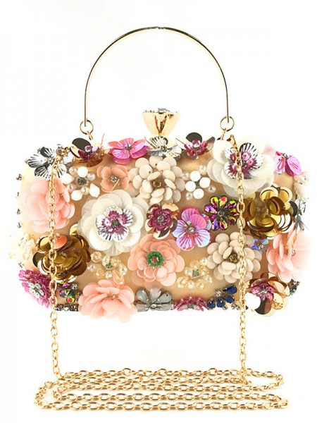 Fashion Satin Bags With Flowers