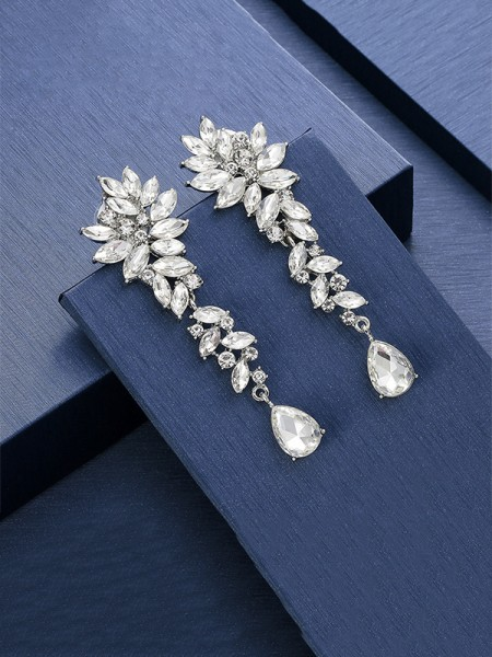 Unique Crystal Long Earrings For Ladies