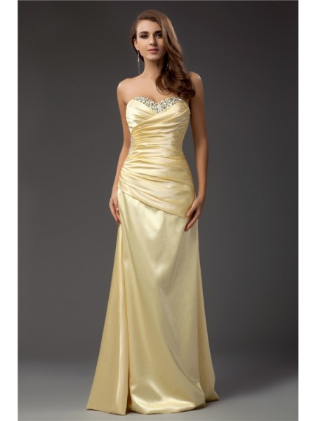 Sheath/Column Sweetheart Long Taffeta Dress