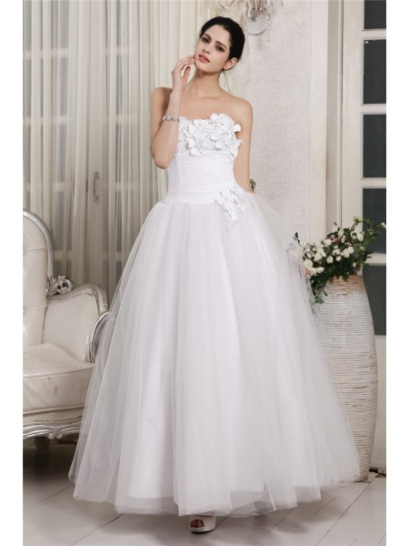 Ball Gown Sweetheart Long Organza Wedding Dress