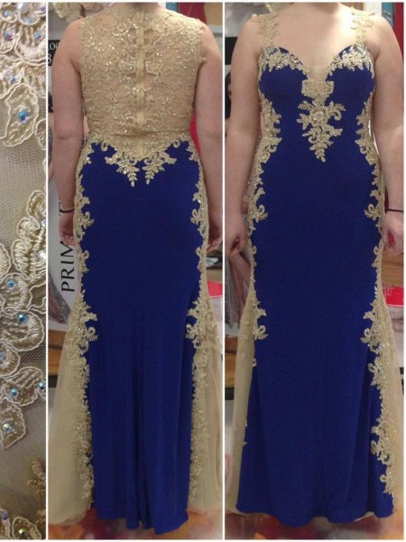Sheath/Column Straps Applique Floor-Length Elastic Woven Satin Plus Size Dress