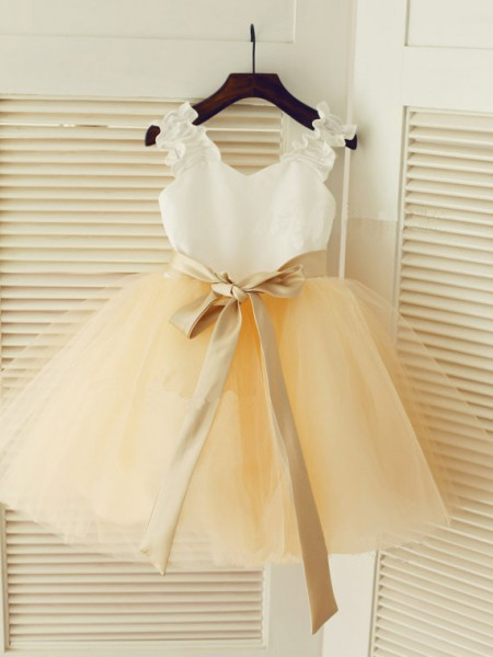 Straps Ball Gown Sash/Ribbon/Belt Long Tulle Dresses